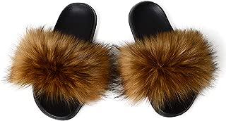 Best yellow faux fur slides Reviews