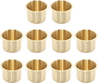 Amarine Made 10 Pack of Brass Drop-in Cup Holders