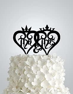 Acrylic Wedding cake Topper - Heartless Hearts Kingdom Hearts Inspired