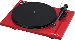 Pro-Ject Essential III Belt-Drive Turntable with Ortofon OM10 Cartridge (Gloss Red)