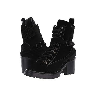 The Kooples Velvet Steffy Boots (Black) Women