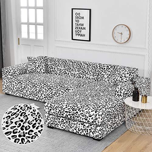 WXQY Funda de sofá de Esquina Funda de sofá elástica para Sala de Estar, Funda de sillón sofá sombreado sofá Todo Incluido Funda de sofá A14 3 plazas