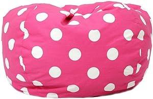 Comfort Research Small Twill Dottie Lounger Bean Bag Chair