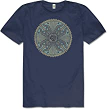 Men's Vajra Warrior Hemp Short Sleeve T-Shirt - Navy Blue Crew Neck Tee for Men and Women by Soul Flower