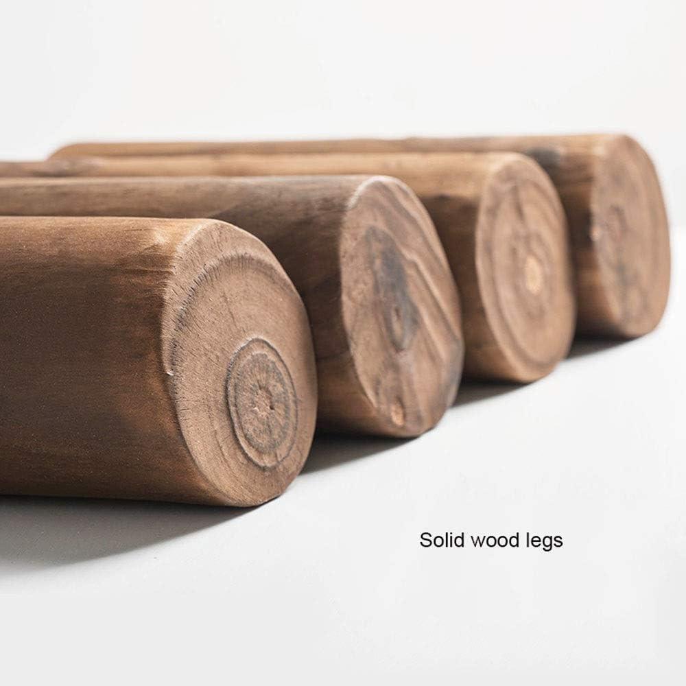 YUMUO Moderne en Bois Massif Repose-Pied Rond Pouf Tabouret Pieds en Bois et Siège en Tissu Pouf pour Salon F1219 (Couleur: G) 3