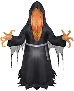 HALLOWEEN INFLATABLE 5' PHOTOREAL PUMPKIN FACE MONSTER DECORATION PROP BY GEMMY