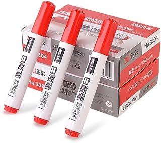 Czerwone markery do wycierania na sucho mała końcówka marker na bazie wody łatwy do wytarcia na tablicę do szkoły kuchni b...