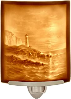 Lighthouse - Curved Porcelain Lithophane Night Light