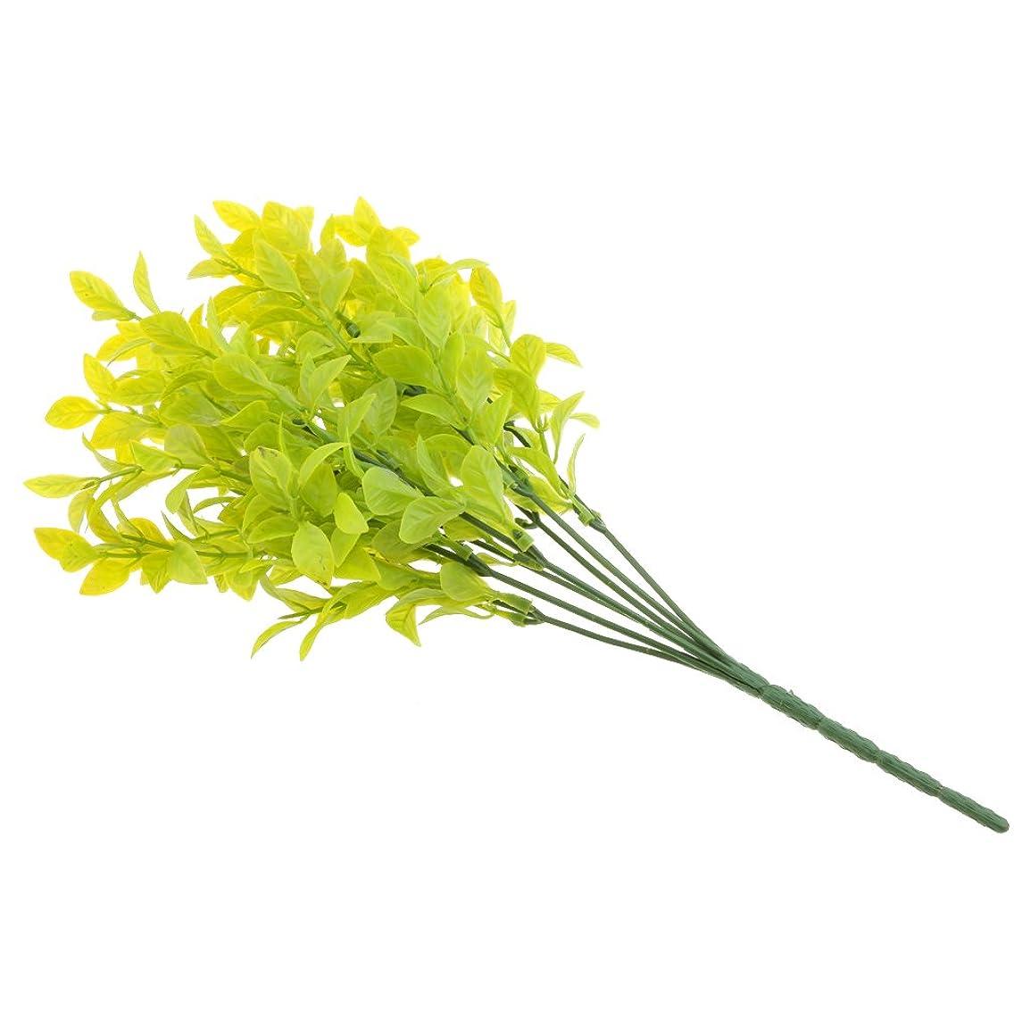 協力クアッガワーディアンケースFenteer インテリア 人工観葉植物 4色 曲げ可能 ホーム オフィス 屋外 装飾 プレゼント - 黄緑