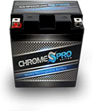 YTX14AH-BS Rechargeable - Replacement High Performance Power Sports Battery - Chrome Pro