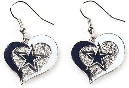 Aminco NFL Swirl Heart Earrings