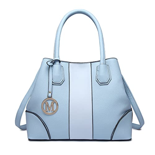 1b46c1ee0e2f2 Light Blue Handbag. Miss Lulu Leather Look V-Shape Shoulder Handbag Elegant  Design Top Handle Fashion Handbags for