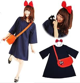 Japanese Anime Kiki Witch Costume 4 Items Set