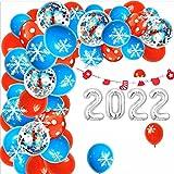 SHLMO 2022 Año Nuevo Navidad Película de Aluminio Globo Escena...