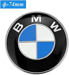 74mm BMW Trunk Emblem, 2 Pin Replacement Badge Hood or Trunk Logo Fit for BMW 2-Series, 3-Series, 4-Series, M-Series, E46 E90 E82