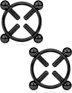 VFUN Finti Piercing Capezzolo Anello Adjustable Circle Nickel-Free Acciaio Inossidabile Gioielli Piercing Un Paio