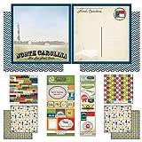Scrapbook Customs Themed Paper and Stickers Scrapbook Kit, North Carolina Vintage