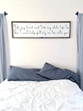 CELYCASY Take My Hand and take My Whole Life Too. for I Cant Help Falling in Love with You | Framed Wood Sign | Above The Bed Sign