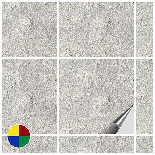 FoLIESEN 2272200Adesivi per Piastrelle per Cucina e Bagno, Decorazione Stone Numero 4–200Pezzi in PVC, 15x 15x 4.8cm