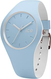 Ice-Watch - Ice Duo White Sage - Montre Bleue pour Femme avec Bracelet en Silicone - 001489 (Small)