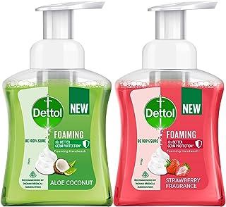 Dettol Foaming Handwash Pump Combo, Aloe Coconut & Strawberry (2 x 250ml)