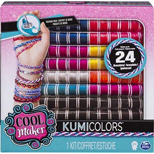 COOL MAKER Confezione di Rocchetti per Bracciali Compatibile con la Macchina KumiKreator, per 24 Braccialetti, dagli 8 Anni, 6045482