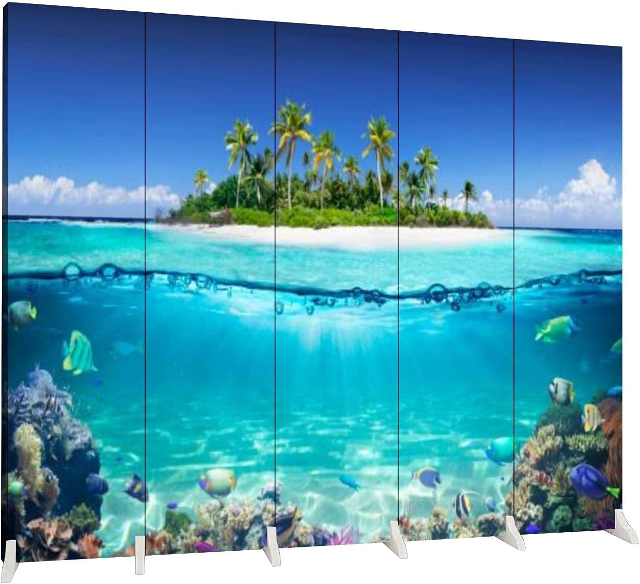 Dola-Dola 5 Long-awaited Panels Screen Room and Columbus Mall Divider Tropical Coral Island