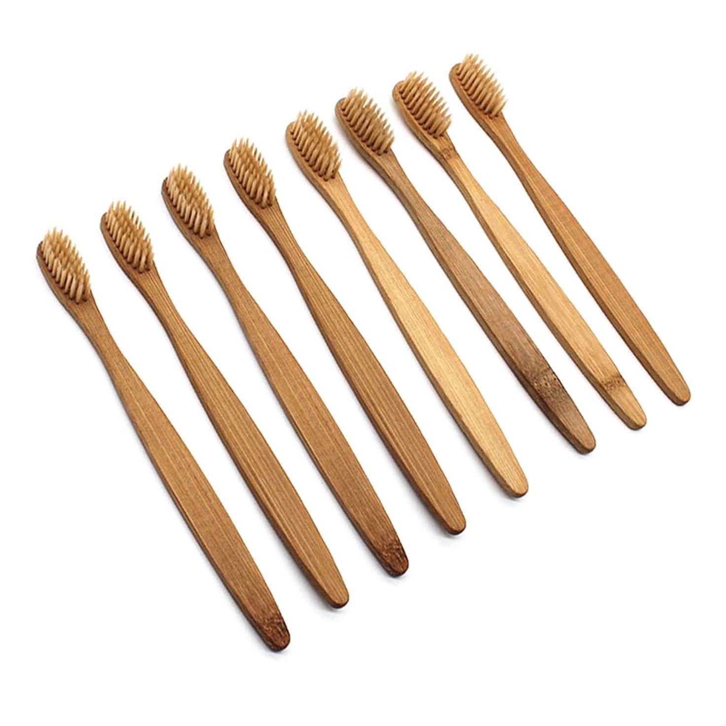 ヘルメット委員長防止Healifty 柔らかい剛毛が付いているタケ歯ブラシの自然な木のECOの友好的な歯ブラシ歯ブラシ16pcs