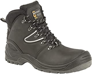Mens Action Coated Leather Laced Hiking Boot