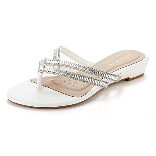 a2a9fbf580b5e DREAM PAIRS Women s Jewel Flip-Flop Sandals