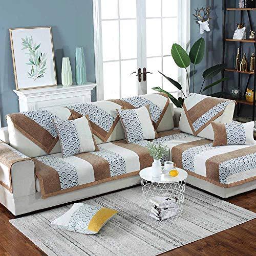 YoZhanhua - Funda de sofá esquinera, Moderna y Antideslizante, para sofá seccional, sin decoloración, para Sala de Estar, marrón, 70 * 180