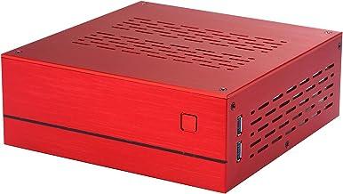 Goodisory A01 Aluminum Mini-ITX HTPC Desktop Computer Chassis (Red Aluminum)