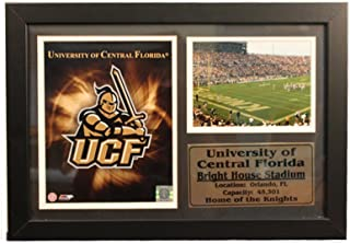 Encore Select 129-26 NCAA University of Central Florida Framed Team Photo and Bright House Stadium Print with Nameplate, 12-Inch by 18-Inch