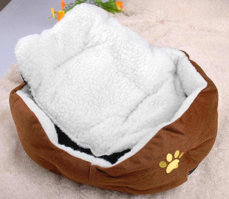Dixinla Pet Bed Flannel Dog Bed Sofa nest Lamb Velvet cat nest Dog Mat Coffee