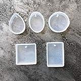 HDZBB 5 unids/Set moldes de Silicona de Gota de Agua Formas de Pulsera de Cristal Colgante Molde de joyería Herramientas de joyería de fundición