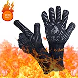 AngLink BBQ Grill Gloves, 1472F Extreme Heat Resistant Grilling Gloves for Cooking, Baking and for...