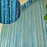 Norbi Vogue Tassel String Door Window Room Divider Partition Curtain Valance (Blue)