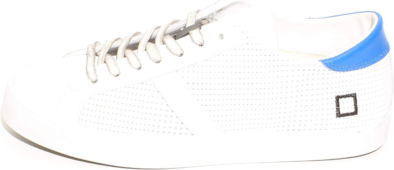 Date Men's D.a.t.e. Hill Low Pop White Pierced Leather Sneaker