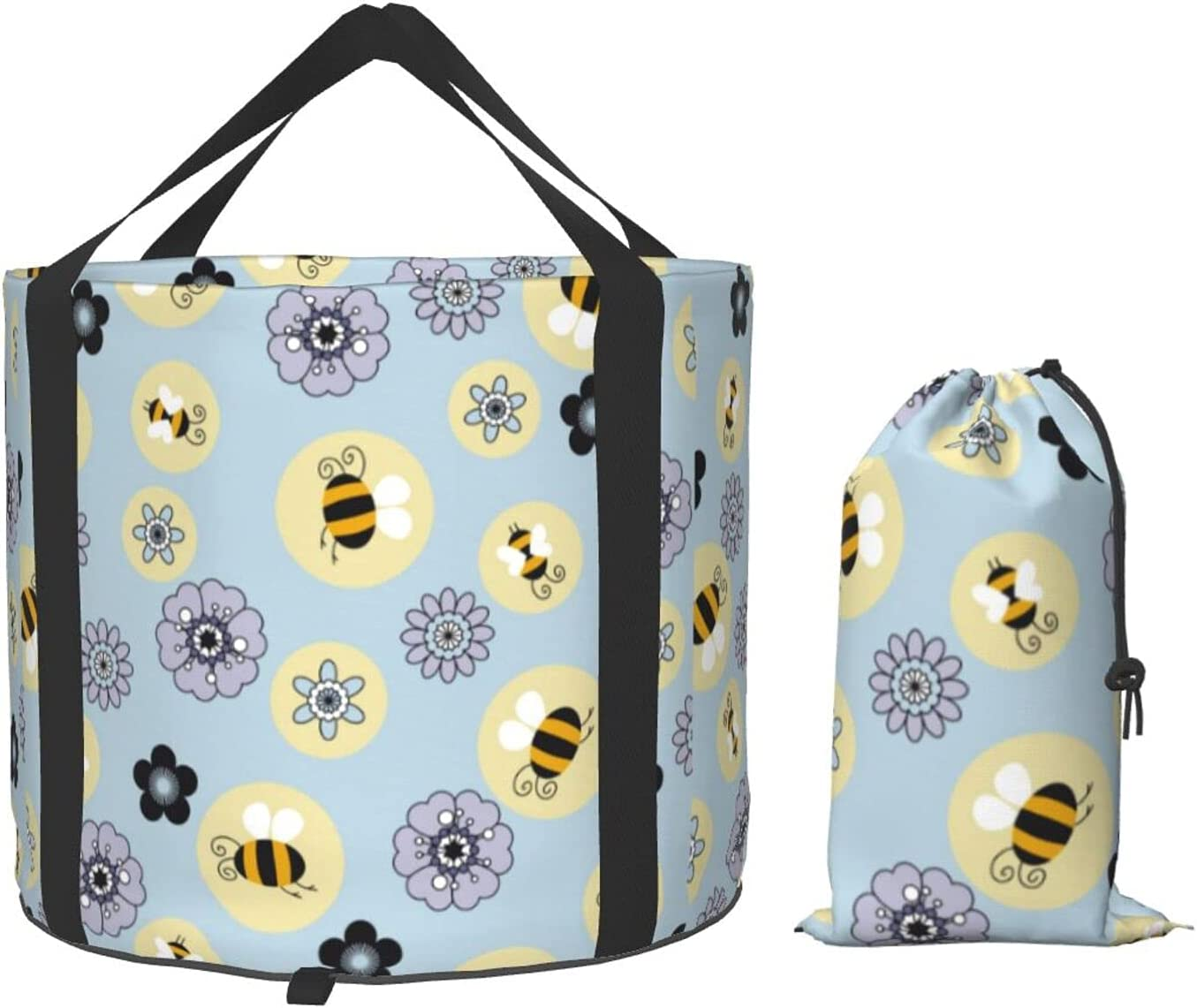 Multifunctional Portable Collapsible Bucket Max 67% OFF Flower Cartoon Bee Selling B