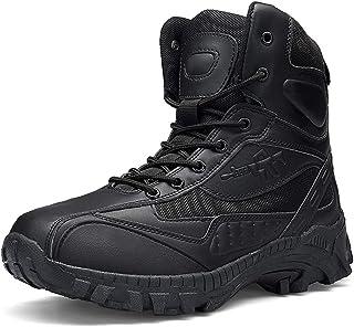 Dinah Botas de acero para hombre al aire libre antideslizante resistente senderismo tobillo desierto botas zapatos