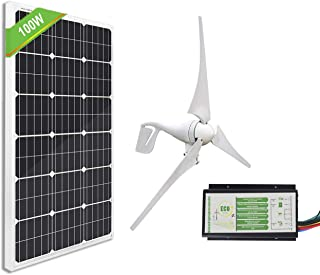 ECO-WORTHY 500W Wind Solar Power Kit: 400W Wind Turbine Generator+ 100W Monocrystalline..