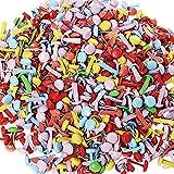 500 Stück Mini Brads, Brads rund, Borte Pastell Runde Brads Multicolor Papier Handwerk Stanzen Scrapbooking DIY Tool für Papier, Bastelarbeiten, Scrapbooking - Mischfarbe (8 * 14mm)