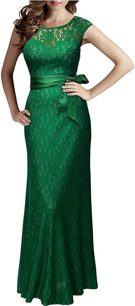 TopOk Women's Cocktail Slim Dress Green