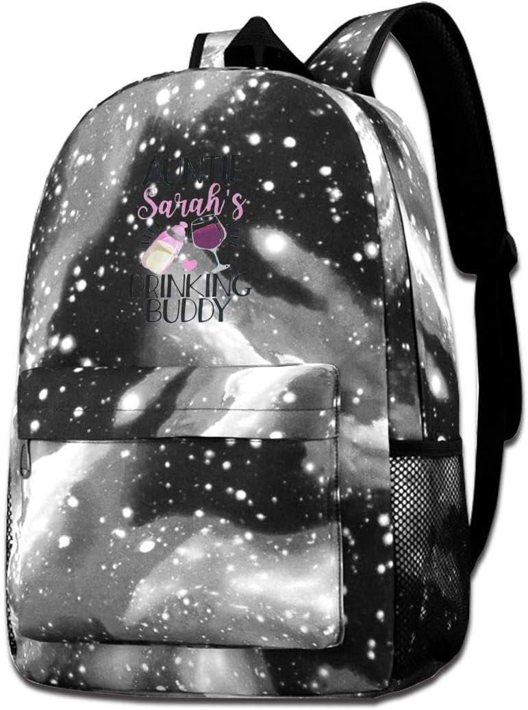 Sherrygeoffrey Aunties Drinking Buddy Student Bookbag Backpack Star Sky Laptop Bag