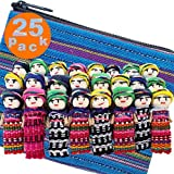 24 Worry Dolls from Guatemala - Super Cute Small Worry Dolls + 1 Free Guatemalan Fabric Bag - Worry Doll - People - Mayan - Trouble - Anxiety - Guatemala Dolls - (1.5 in)