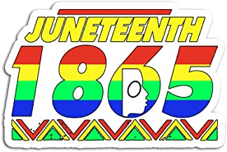 Hand Wooden Customizable Sticker Juneteenth 1865 Anti 4th of July Stickers for Personalize (3 pcs/Pack)