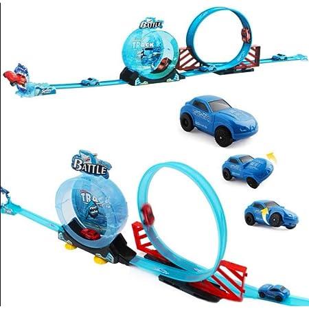 Kids Planet DIY Track Shark Racer Car Racing Ramp Set with 1 Car Set Racing Game for Kids DRR