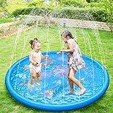 """Anpro 172cm/68"""" Sprinkle and Splash Play Mat, Sprinkler Pad for Kids over 6"""