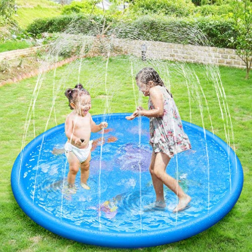Anpro 172cm/68' Sprinkle and Splash Play Mat, Sprinkler Pad for Kids over 6...