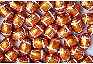 Smarty Stop Chocolate Balls ~ Foil Wrapped Chocolate Candy ~ (Footballs, 1LB)
